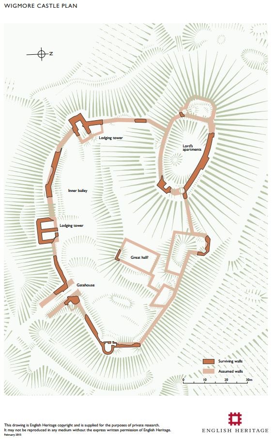 wigmore castle plan